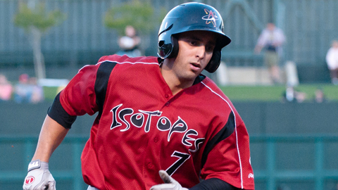 Alex Castellanos leads the Pacific Coast League with 15 extra-base hits.