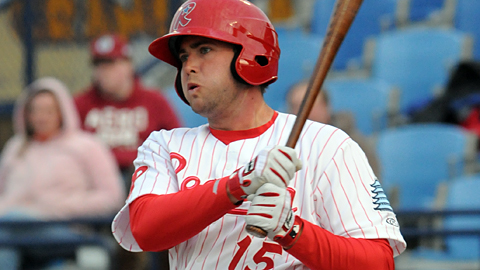 Reading's Darin Ruf homered in four straight games this week.